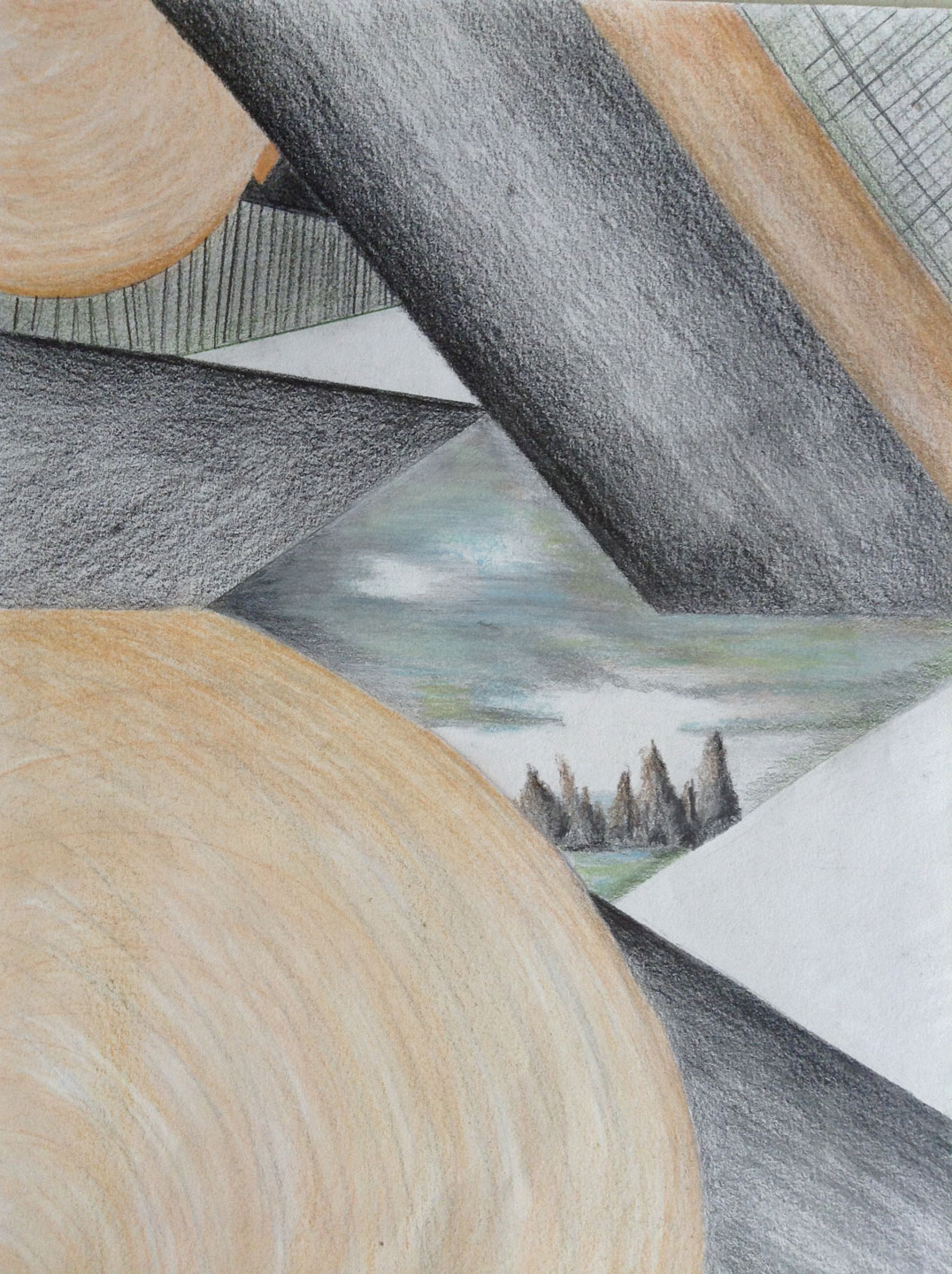 Pencil Geometry - Mixed Media by Joyce Van Horn