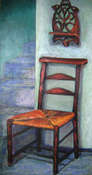 St. Paul's Prayer Chair - Oil on Canvas by Joyce Van Horn