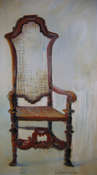 My Chair - Oil on Canvas by Joyce Van Horn