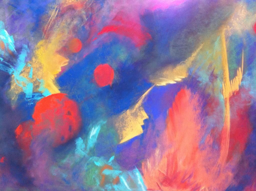 Flamboyant Feathers - Pastel by Joyce Van Horn