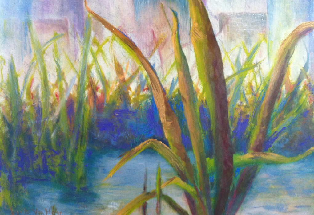 Marsh Land - Oil by Joyce Van Horn