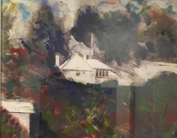 ENCAUSTIC WAX - TUCKED AWAY IN CALIFORNIA by Joyce Van Horn, $195