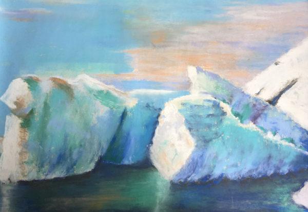 Iceberg Beauty pastel by Joyce Van Horn