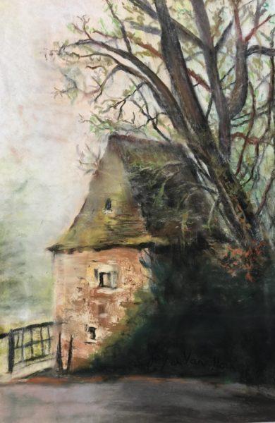La Petite Maison, pastel by Joyce Van Horn